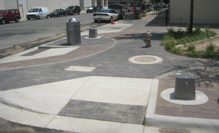 New sidewalks and ADA ramps