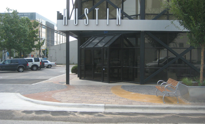 Front entrance at 3rd and San Antonio